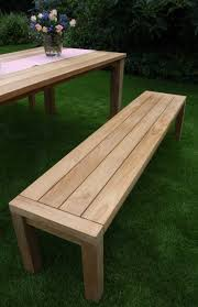 Teak Benches Ft Backless Outdoor Teak Bench Images With Cool Kitchen Benches