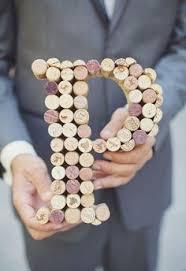 cork monogram letters cork décor wine themed bridal shower diy
