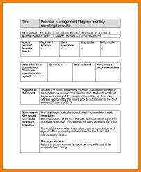 Monthly It Report Template For Management by Monthly Report Template Sle Monthly Project Status Report