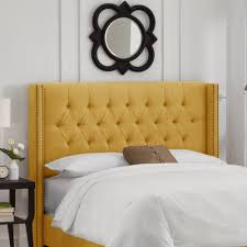 buy tufted upholstered headboard size california king color