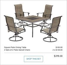 lowes outdoor dining table shop the skytop patio collection on lowes com
