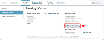 how to order replacement cards or report cards as lost stolen