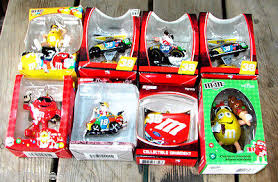 lot of 8 collectable m nascar ornaments race car tree