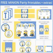 free despicable minion party printables birthday