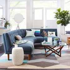 Retro Sectional Sofas Rounded Retro Sectional West Elm Pinterest Living