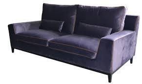 divano ottomano divano moderno in velluto 2 posti viola casanova sba