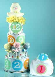 belly stickers diaper cake from silly phillie