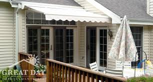 Backyard Awnings Ideas Retractable Awning Ideas Pictures Designs Great Day Improvements