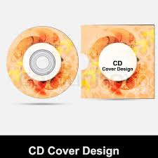 cd cover design template presentation isolated on white background