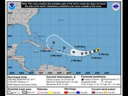 caribbean watches as category four hurricane irma moves towards