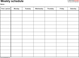 free weekly schedule templates for pdf 18 hourly planner template