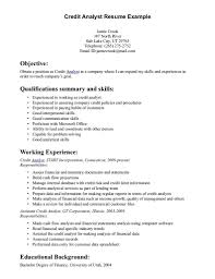cover letter for credit analyst position job and resume template