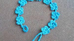 crochet bracelet images How to crochet a pretty summer flower bracelet diy style jpg