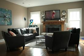 Living Room Furniture For Tv Narrow Living Room Layout With Tv Two Recliners And A Sofa How To