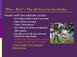 Are You Can Eat Buffet by Habit 4 Think Win Win U201cpursue Victory With Honor U201d Ppt Download