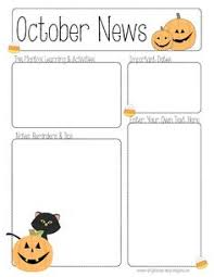 november thanksgiving preschool newsletter template the crafty