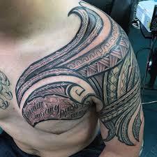 Tropical Themed Tattoos - 60 hawaiian tattoos for men traditional tribal ink ideas