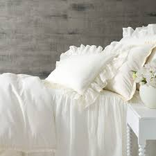 classic ruffle ivory duvet cover the outlet