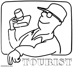 tourist coloring pages coloring pages to download and print