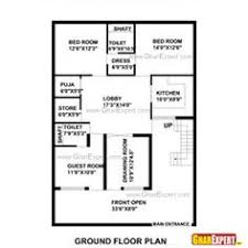 layout of house house plan for 30 by 30 plot plot size 100 square yards