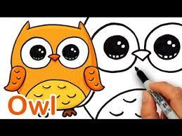 A Cartoon Barn How To Draw A Cute Cartoon Owl Easy Step By Step Youtube