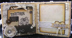 as a scrapper vintage style wedding album and keepsake box