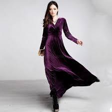 women ladies winter autumn party slim velvet long sleeve v