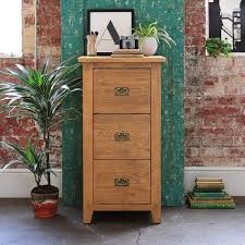 amazing square dark brown oak wood 3 draw filing cabinet metal
