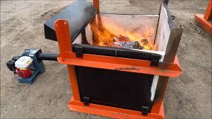 burnwell micro air curtain incinerator youtube
