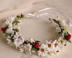 hair wreath winter wedding hair wreath bridal halo white floral circlet