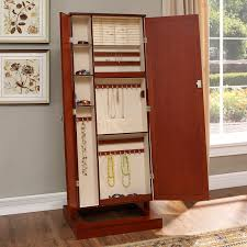 Jewelry Mirror Armoire Belham Living Bordeaux Locking Cheval Mirror Jewelry Armoire