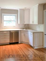 white kitchen cabinets wood trim favorite white kitchen cabinet paint colors evolution of style