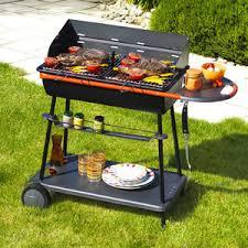 barbecue cuisine barbecue charbon bois qooka a540 en acier 56x41