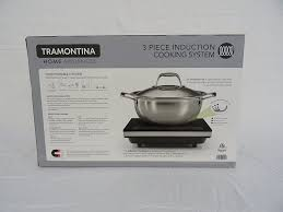 amazon com tramontina 3 piece induction cooking set kitchen