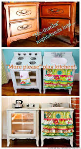 Pretend Kitchen Furniture Upcycle Nightstands Into A Play Kitchen Kitchens