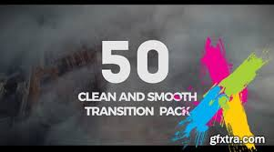50 clean transition pack premiere pro templates vector