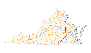 Northern Virginia County Map by U S Route 1 In Virginia Wikipedia
