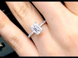 emerald cut engagement rings 2 carat 2 12 ct emerald cut engagement ring