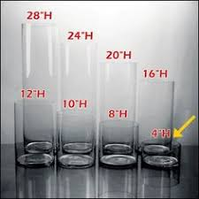 24 Inch Cylinder Vases Wholesale Koyal Wholesale 404341 6 Pack Cylinder Glass Vases 4 By 24 Inch