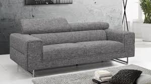 canap narbonne canapé 3 places tissu design gris avec dossiers hauts gris