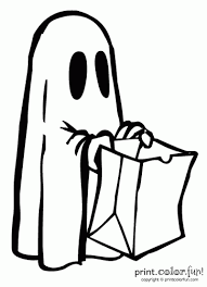 halloween ghost costume coloring print color fun