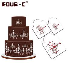 aliexpress com buy chandelier cake stencils christmas cookie and