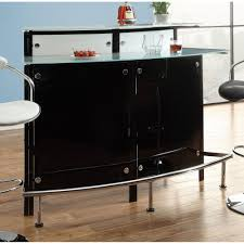 Contemporary Bar Table Tables Arched Black Bar Table With Frosted Glass