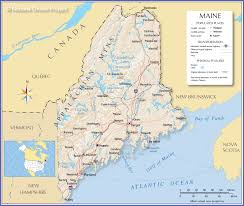 Ez Pass States Map Maine Outline Maps And Map Links Geographical Map Of Maine And