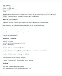 Electrician Resume Template Free Electrician Resume Format Electrical Engineer Resume Format