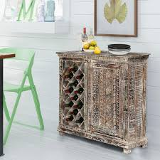 distressed wood bar cabinet distressed solid wood rustic bar cabinet with wine storage