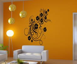 vinyl wall decal sticker curly flower vines 5171