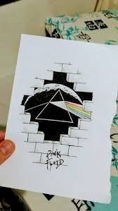 the side of the moon are on the other side of the wall pink