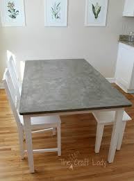 pottery barn concrete table concrete top table modern diy dining and set makeover the crazy with