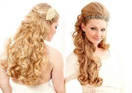 calm side swept curls wedding hairstyles tutorial curly bridal